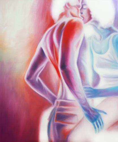 Robert Gärtner, Kontakt, Menschen: Paare, Diverse Erotik, Gegenwartskunst, Abstrakter Expressionismus