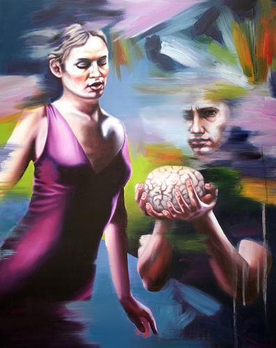 Robert Gärtner, Brainstorm, Menschen: Paare, Diverse Menschen, Abstrakter Expressionismus
