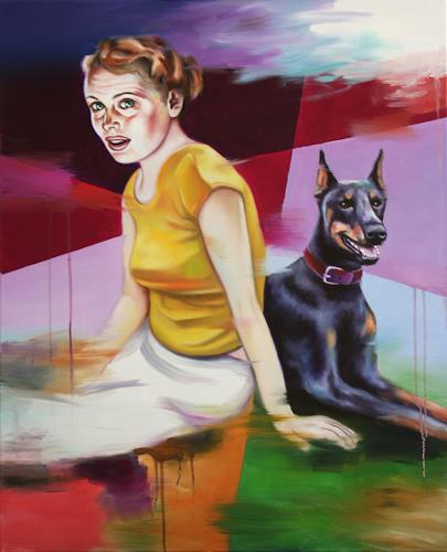 Robert Gärtner, Yellow, Diverse Menschen, Abstrakte Kunst, Abstrakter Expressionismus