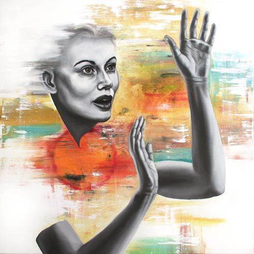 Robert Gärtner, Voices, Menschen: Frau, Abstrakter Expressionismus
