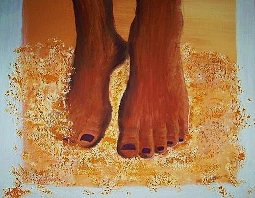 agabea, Füße im Sand, Landschaft: Strand, Situationen, Symbolismus