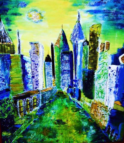 agabea, Im Mondlicht, Architektur, Weltraum: Mond, Abstrakte Kunst