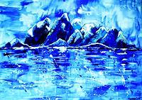agabea-Landschaft-Winter-Natur-Wasser-Moderne-Abstrakte-Kunst