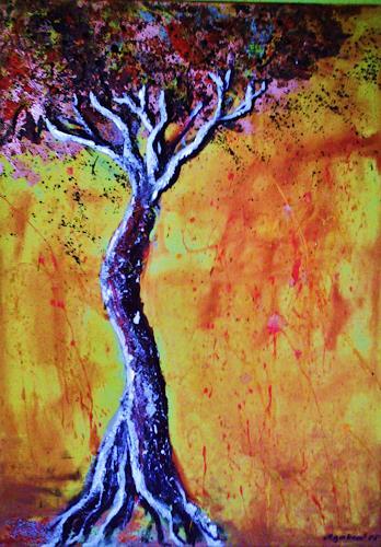 agabea, Baum in Trauer, Landschaft: Herbst, Gefühle: Trauer, Abstrakte Kunst