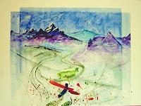 agabea-Landschaft-Berge-Fantasie-Moderne-Abstrakte-Kunst