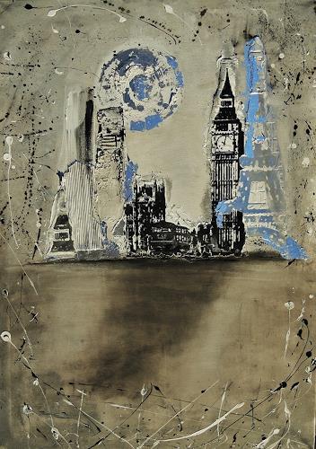agabea, Europa in der Nacht, Wohnen: Stadt, Symbol, Abstrakte Kunst