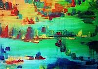 agabea-Wohnen-Dorf-Landschaft-See-Meer-Moderne-Abstrakte-Kunst