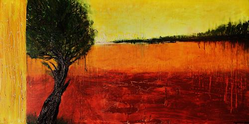 agabea, Am Rande, Pflanzen: Bäume, Landschaft: Herbst, Abstrakte Kunst, Expressionismus
