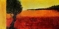 agabea-Pflanzen-Baeume-Landschaft-Herbst-Moderne-Abstrakte-Kunst