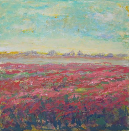 agabea, Juni, Landschaft: Sommer, Diverse Pflanzen, Gegenwartskunst, Expressionismus