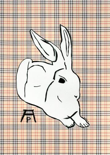 c.mank, Dürer Hase #5  |  Dürer Rabbit #5, Diverse Tiere, Pop-Art