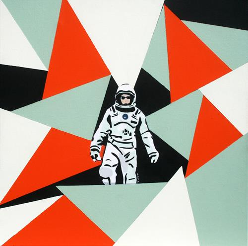 c.mank, Astronautin, Diverse Menschen, Arbeitswelt, Pop-Art