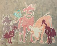 Fredi-Gertsch-Tiere-Land-Abstraktes-Moderne-Pop-Art