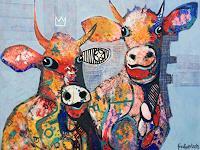 Fredi-Gertsch-Tiere-Land-Gefuehle-Freude-Moderne-Pop-Art