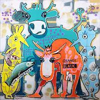 Fredi-Gertsch-Tiere-Land-Fantasie-Moderne-Pop-Art