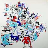 Fredi-Gertsch-Landschaft-Ebene-Abstraktes-Moderne-Pop-Art