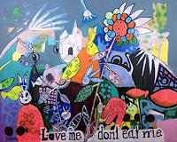 Fredi-Gertsch-Gefuehle-Liebe-Tiere-Land-Moderne-Pop-Art