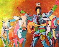 Fredi-Gertsch-Menschen-Tiere-Moderne-Pop-Art
