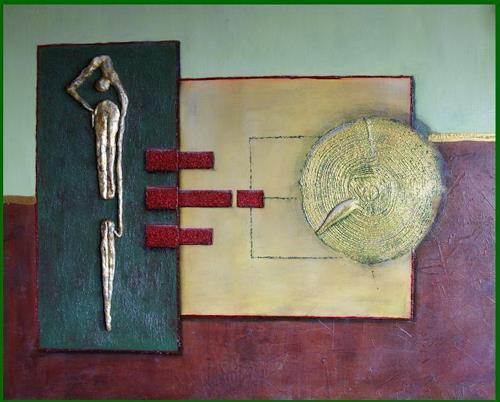 Friedrich UNGER, ERSCHÖPFT, Abstraktes, Dekoratives, Gegenwartskunst