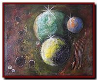 Friedrich-UNGER-Weltraum-Gestirne-Moderne-Abstrakte-Kunst