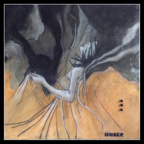 Friedrich UNGER, ALPTRAUM, Menschen: Frau, Menschen, Abstrakte Kunst