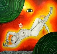 Nemesis-Akt-Erotik-Akt-Frau-Symbol-Moderne-Avantgarde