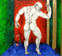 Nemesis-Akt-Erotik-Akt-Mann-Menschen-Mann-Moderne-Avantgarde