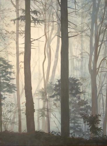 Vera Käufeler, Warten auf Weihnachten, Natur: Wald, Expressionismus