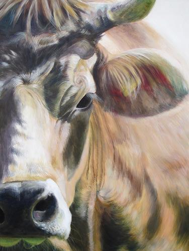 Vera Käufeler, Alpina, Tiere: Land, Fotorealismus, Expressionismus