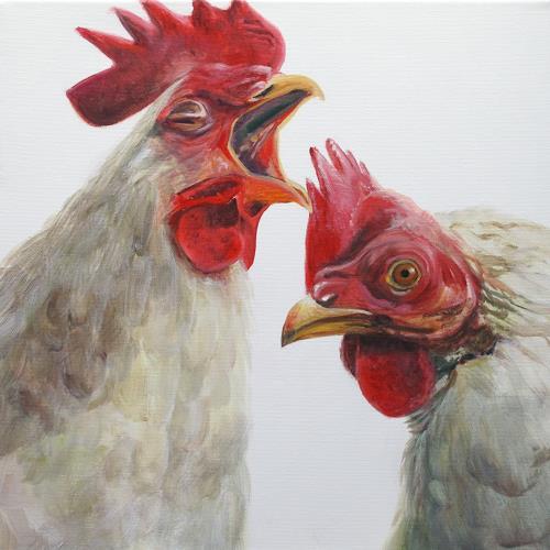 Vera Käufeler, Bio-Wecker, Tiere: Land, Fotorealismus, Abstrakter Expressionismus