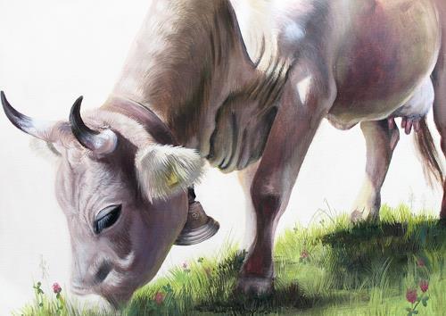 Vera Käufeler, La Famosa, Tiere: Land, Abstrakte Kunst, Expressionismus