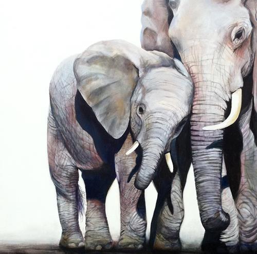 Vera Käufeler, Jala & Luela, Tiere: Land, Natur, Fotorealismus, Expressionismus