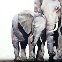 Vera-Kaeufeler-Tiere-Land-Natur-Moderne-Fotorealismus