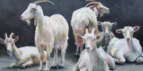 Vera Käufeler, No stress, Tiere: Land, Natur, Abstrakte Kunst, Expressionismus