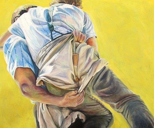 Vera Käufeler, Schwingen - mit aller Kraft, Menschen, Sport, Abstrakte Kunst, Abstrakter Expressionismus