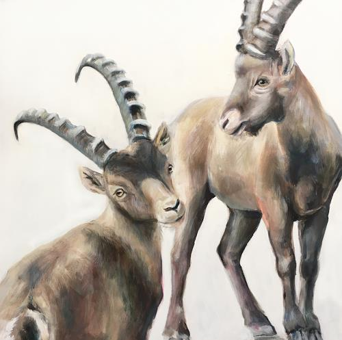 Vera Käufeler, Greenhörner, Tiere: Land, Natur, Fotorealismus