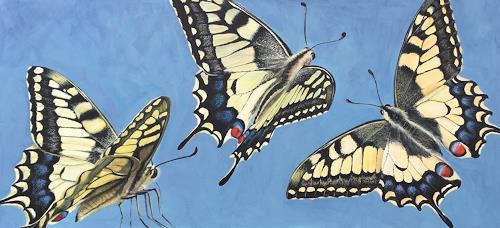 Vera Käufeler, Miss Flatter, Tiere, Natur: Luft, Fotorealismus, Expressionismus