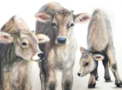 Vera Käufeler, Cowgirls, Natur, Tiere, Fotorealismus