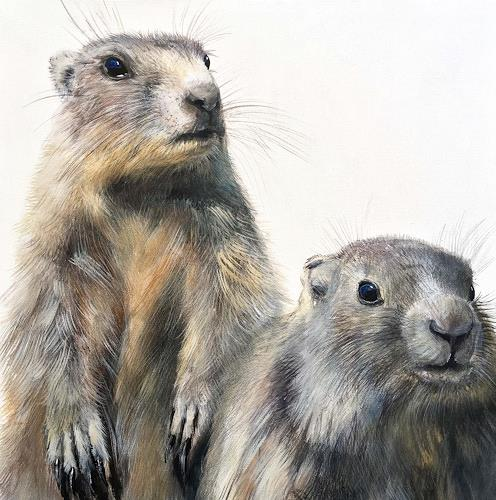 Vera Käufeler, Mingg & Mungg, Tiere: Land, Natur: Erde, Fotorealismus, Expressionismus