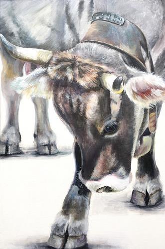 Vera Käufeler, Davoser Lady, Tiere: Land, Natur, Fotorealismus, Expressionismus