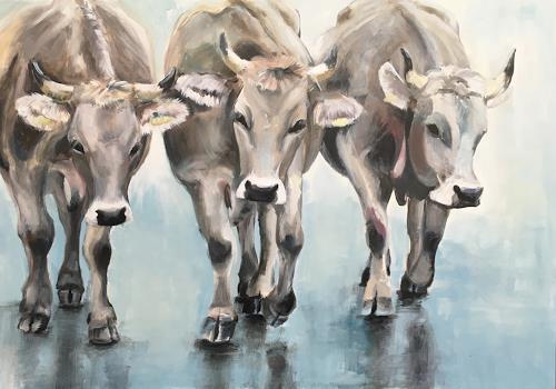 Vera Käufeler, Catwalk? - Cowwalk!, Tiere: Land, Natur, Fotorealismus