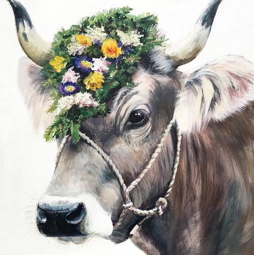 Vera Käufeler, Alpenchic, Natur, Tiere: Land, Fotorealismus, Expressionismus