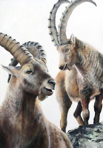 Vera Käufeler, Alpenrocker, Natur, Tiere: Land, Fotorealismus, Expressionismus