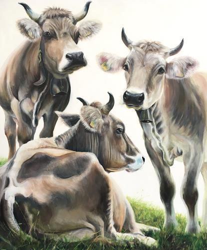 Vera Käufeler, Belle sorelle, Natur, Tiere: Land, Fotorealismus, Expressionismus