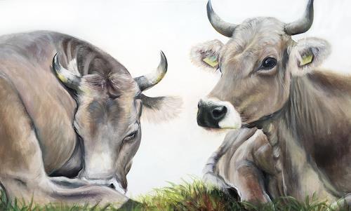 Vera Käufeler, Lilly & Marlen, Tiere: Land, Natur, Fotorealismus, Expressionismus