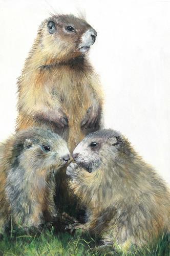 Vera Käufeler, Wusel, Fratz & Tatz, Tiere: Land, Natur, Fotorealismus, Expressionismus