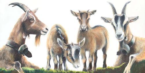 Vera Käufeler, Momentan nichts zu meckern, Tiere, Natur, Fotorealismus, Expressionismus