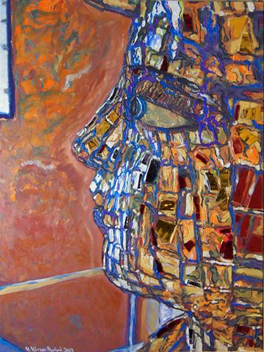 Manuella Muerner-Marioni, Observing, Dekoratives, Fantasie, Gegenwartskunst, Abstrakter Expressionismus