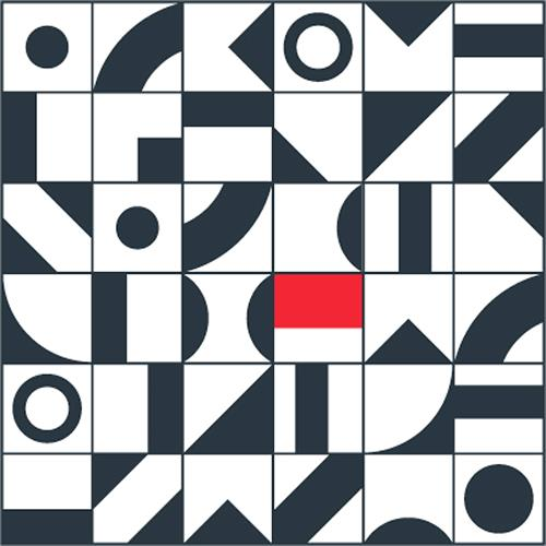 Graphic art tableau 3 von frank mauk abstraktes for Minimal art kunst