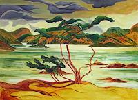 Michael-Doerr-Landschaft-See-Meer-Landschaft-Herbst-Moderne-Naturalismus